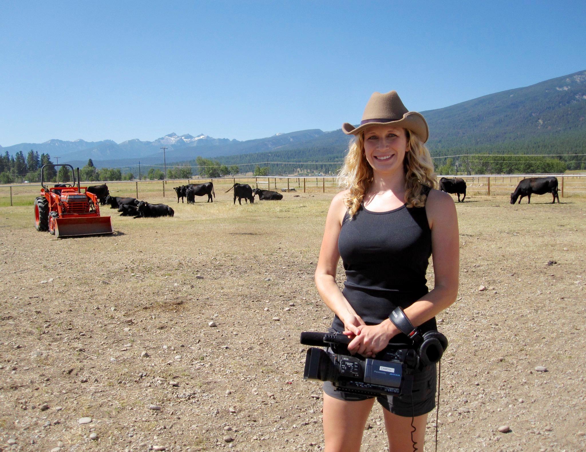 camera cowboy hat
