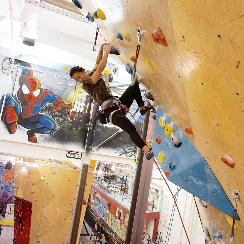 climbing at BKB