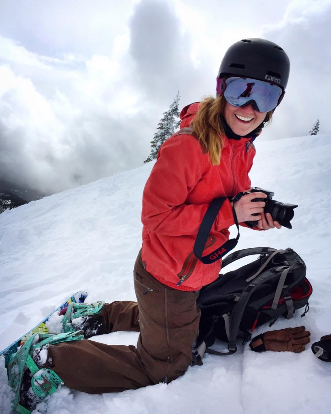 lisa snowboard camera